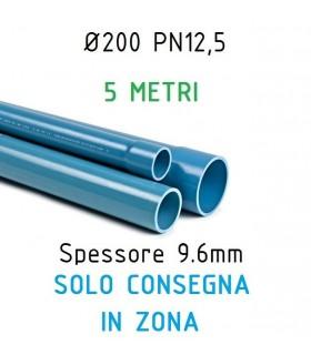 TUBO IN PVC ATOSSICO D.200 PER RIVESTIMENTO POZZI ARTESIANI