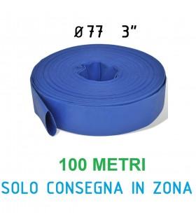 """TUBO LAYFLAT D.100 4"""" BOBINA DA 100 MT"""